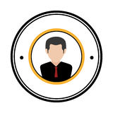 Businessman character avatar icon Stock Images
