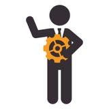 Businessman character avatar icon Royalty Free Stock Photos