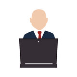 Businessman character avatar icon Stock Photos