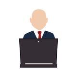Businessman character avatar icon Stock Photos
