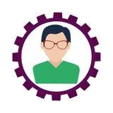 Businessman character avatar icon Stock Image