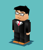 Businessman Character. Businessman Illustration. Businessman working. 3d flat design. Executive business. Stock Photos