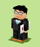 Businessman Character. Businessman working. Businessman bring file illustration. Flat design. Professional. Vector.n Royalty Free Stock Images