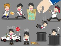 Businessman character drunk theme. Royalty Free Stock Photo