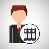 Businessman character folder file concept. Vector illustration eps 10 Stock Photography