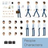 Businessman Character Generator Flat Vector Stock Image
