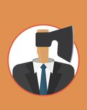 Businessman_character_icons_with_ax Fotografia Royalty Free