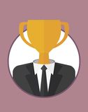 Businessman_character_icons_with_cup Zdjęcie Stock