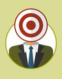 Businessman_character_icons_with_darts Fotografia Royalty Free