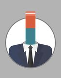 Businessman_character_icons_with_eraser 图库摄影