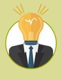 Businessman_character_icons_with_lamp 免版税库存图片