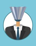 Businessman_character_icons_with_mop Fotografia Royalty Free