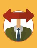 Businessman_character_icons_with_one_red_arrow 向量例证