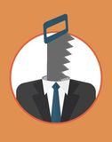 Businessman_character_icons_with_saw Obrazy Stock