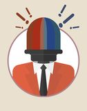 Businessman_character_icons_with_signal_lamp Zdjęcia Royalty Free