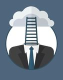 Businessman_character_icons_with_stairs Obraz Stock