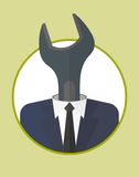 Businessman_character_icons_with_wrench Obraz Stock