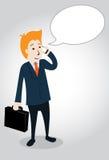 Businessman character  illustration Stock Photography