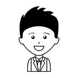 Businessman character isolated icon Royalty Free Stock Images