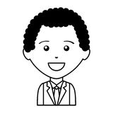 Businessman character isolated icon Stock Images