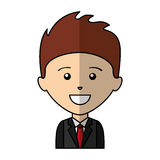 Businessman character isolated icon Royalty Free Stock Photos