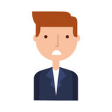Businessman character isolated icon Royalty Free Stock Photo