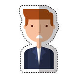 Businessman character isolated icon Stock Photos