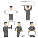 Businessman character set 02 Royalty Free Stock Images