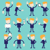Businessman character set Royalty Free Stock Photo