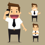 Businessman character set Royalty Free Stock Photography