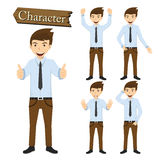 Businessman character set vector illustration Stock Image