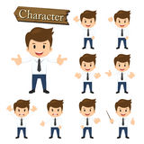 Businessman character set vector illustration Stock Photo