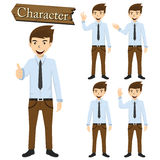 Businessman character set vector illustration Stock Photography