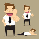 Businessman character Stock Images