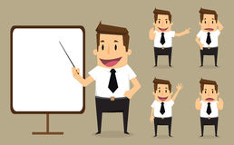 Businessman character.vector.eps10.illustration Royalty Free Stock Images