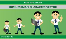 Businessman Character Vector mascot set royalty free illustration
