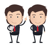 Businessman characters poses, office worker. Vector. Businessman characters poses, office worker Stock Photo