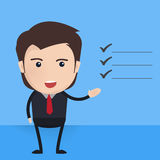 Businessman characters poses, office worker. Vector. Businessman characters poses, office worker Stock Image
