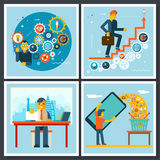 Businessman Characters Scenes Symbol icons on Stock Photography
