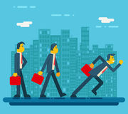 Businessman Characters Standing Walking Running Royalty Free Stock Photography