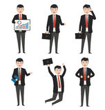 Businessman characters in variety of situations Stock Image