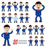 20 businessman characters. Vector illustrations. eps 10 Royalty Free Stock Photos