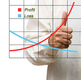 A businessman with a chart Stock Photo