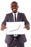 Businessman with chart. In white background Royalty Free Stock Photo