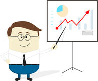 Businessman chart cartoon Stock Photos