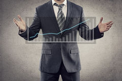 Businessman with chart Stock Image