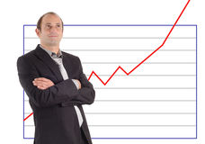 Businessman chart success Royalty Free Stock Images