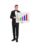 Businessman and chart Royalty Free Stock Images