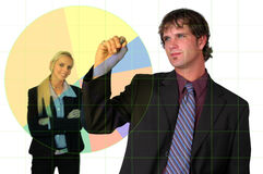 Businessman Charting Growth Stock Photo