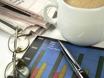 Businessman Charting Profits royalty free stock photography